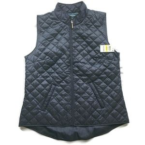 KAREN SCOTT Sport Intrepid Blue Quilted Vest NWT